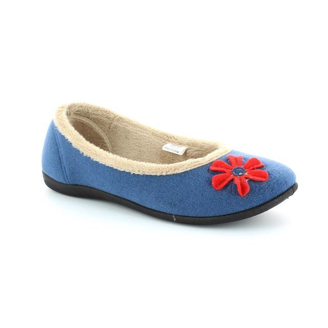 Padders Slippers - Blue multi - 464/54 HAPPY E FIT