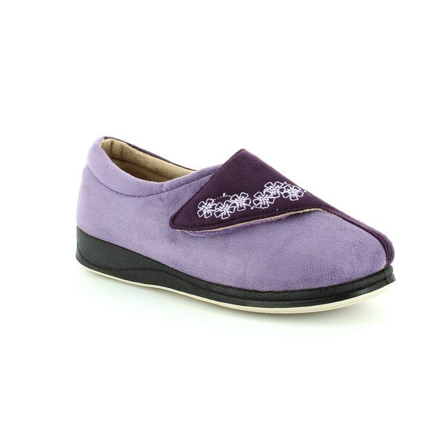 Padders Slippers - Purple multi - 424N/78 HUG 2E FIT