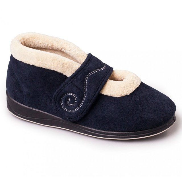 Padders Hush 2E Fit 409-24 Navy slippers