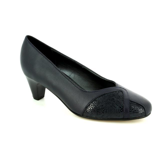 Padders Heeled Shoes - Navy - 2005/96 JOANNA 2E FIT