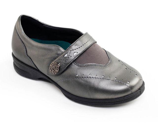 Padders Comfort Shoes - Pewter - 359-98 KIRSTEN 2 EEEE