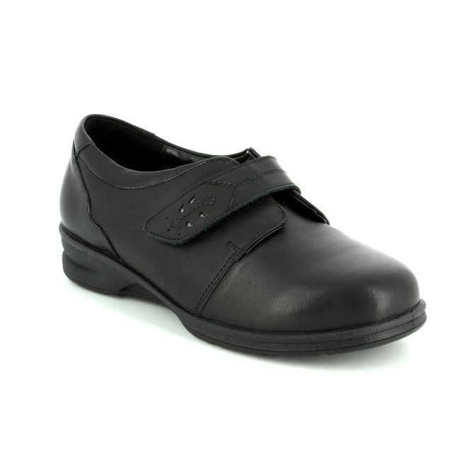 Padders Comfort Shoes - Black - 0360/10 KARLA 4E-6E FIT