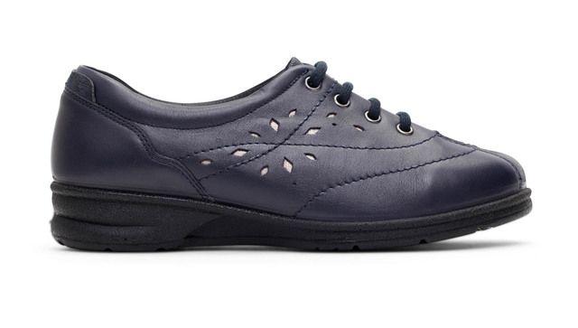 Padders Lacing Shoes - Blue - 358-96 KAREN 2 EEEE