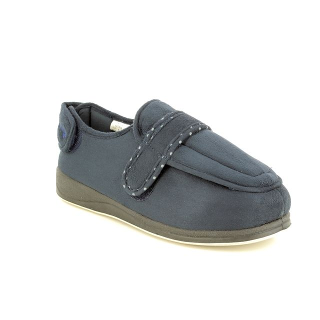Padders Slippers - Navy - 427W/24 ENFOLD 2E FIT
