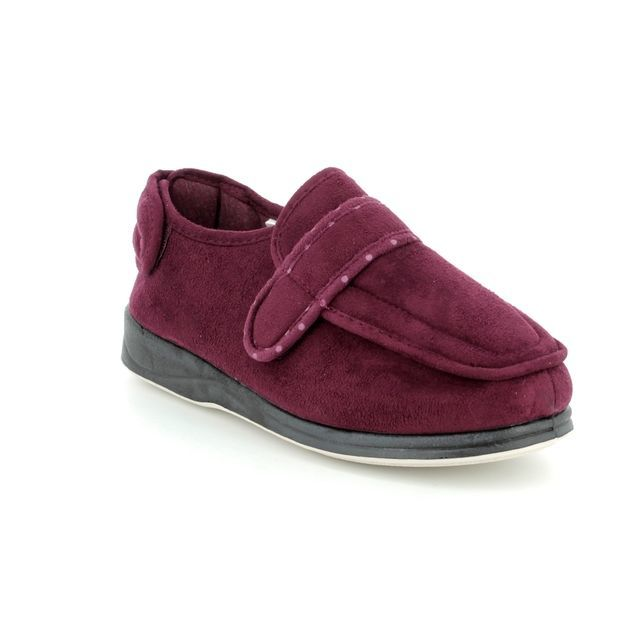 Padders Slippers - Wine - 427W/81 ENFOLD 2E FIT
