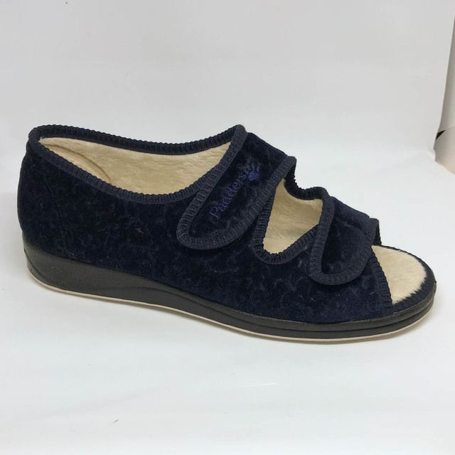Padders Slippers - Navy - 0414/24 LYDIA  EE FIT