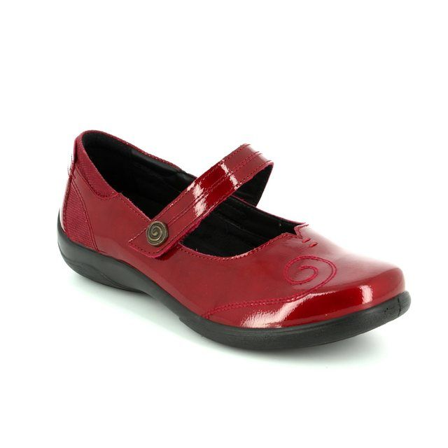 Padders Mary Jane Shoes - Red patent - 0857/42 LYRIC 2E-3E FIT