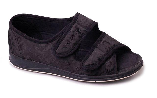 Padders Slippers - Black - 414-10 LYDIA  EE FIT