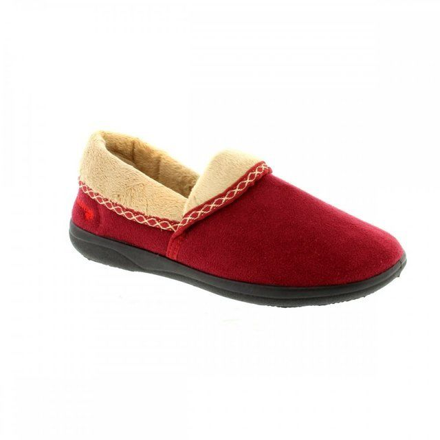 Padders Slippers - Dark Red - 0460/41 MELLOW 2E FIT
