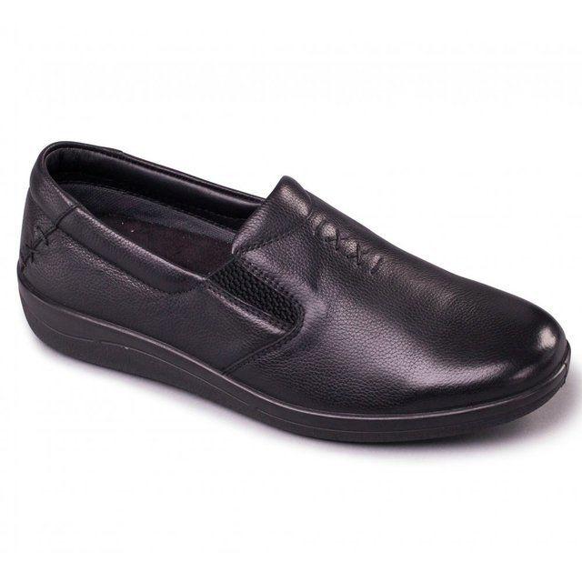 Padders Orbit 232-01 Black matt leather comfort shoes