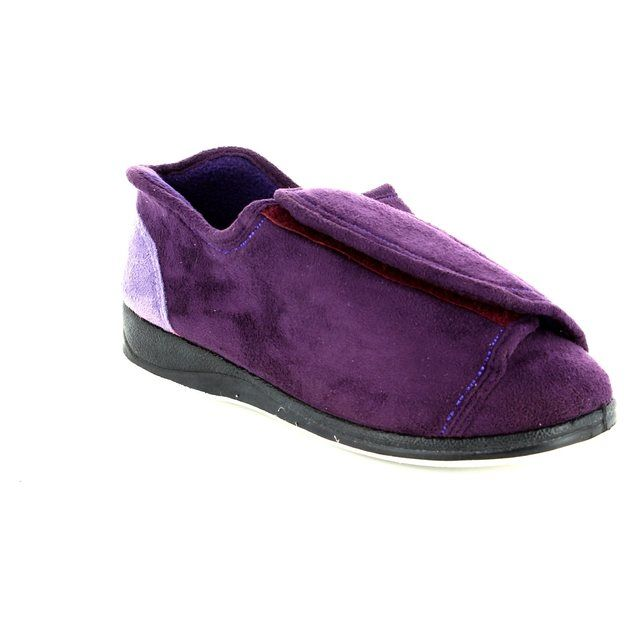 Padders Slippers - Purple - 0498/78 PAULA 4E-6E FIT