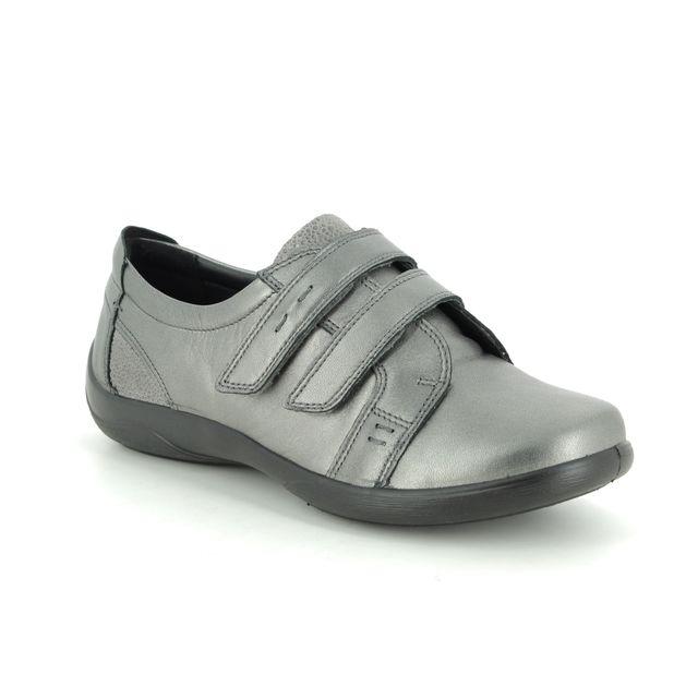 Padders Comfort Slip On Shoes - Pewter - 0877-98 PIANO  EE-EEE