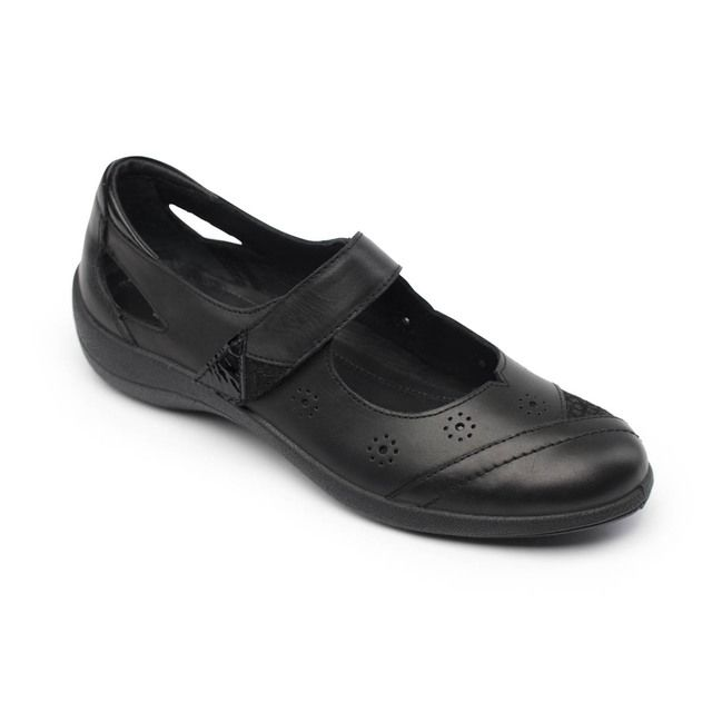 Padders Comfort Shoes - Black - 217-10 RAINBOW