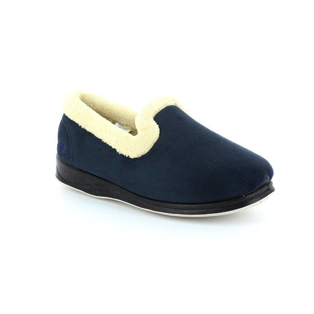 Padders Slippers - Navy - 406/24 REPOSE 2E FIT
