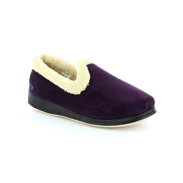 Padders Slippers - Purple - 406/95 REPOSE 2E FIT
