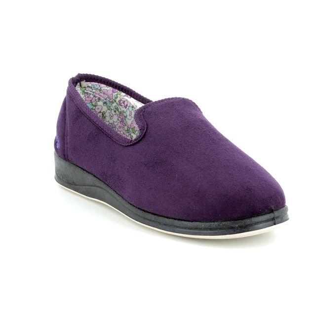 Padders Slippers - Purple multi - 0406/78 REPOSE COTTON