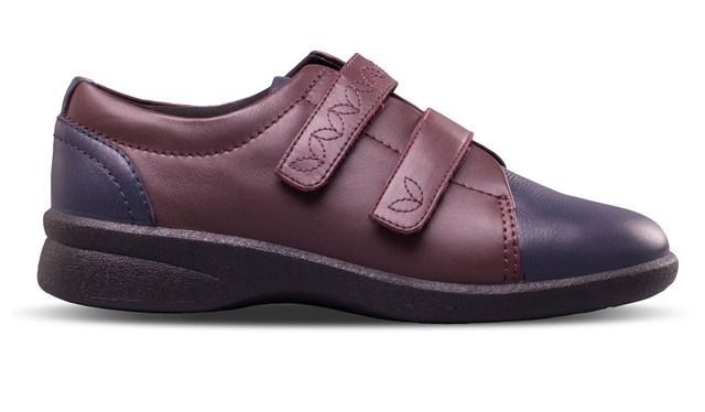 Padders Revive 2 639-27 Navy - wine comfort shoes
