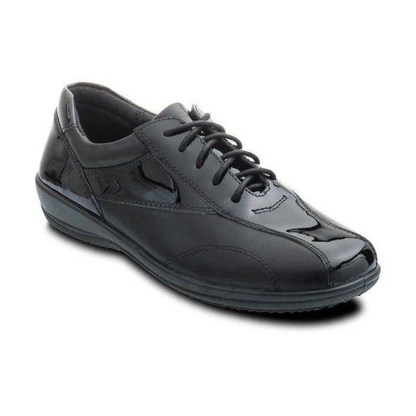 Padders Rhythm 652-38 Black patent lacing shoes