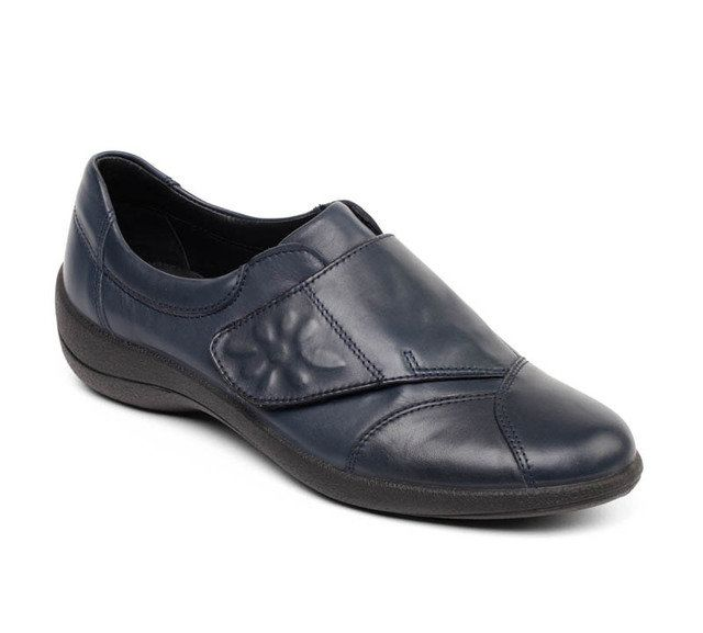 Padders Rose E Fit H203-24 Navy comfort shoes