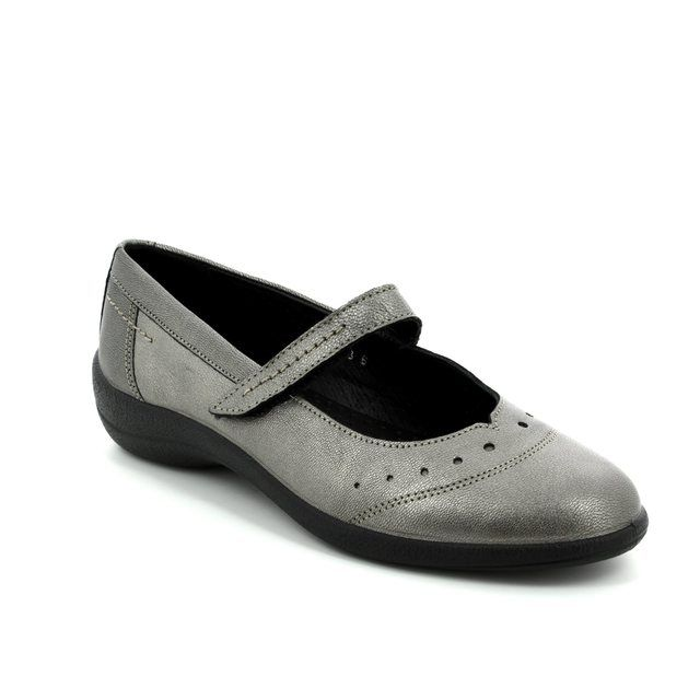 Padders Mary Jane Shoes - Pewter - H212/18 ROWYN E FIT