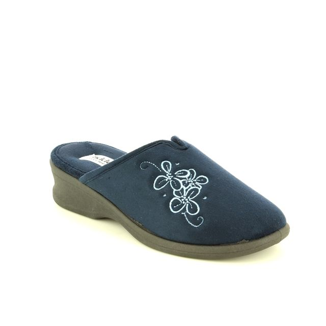 Padders Sable 2E Fit 4003-24 Navy slipper mules
