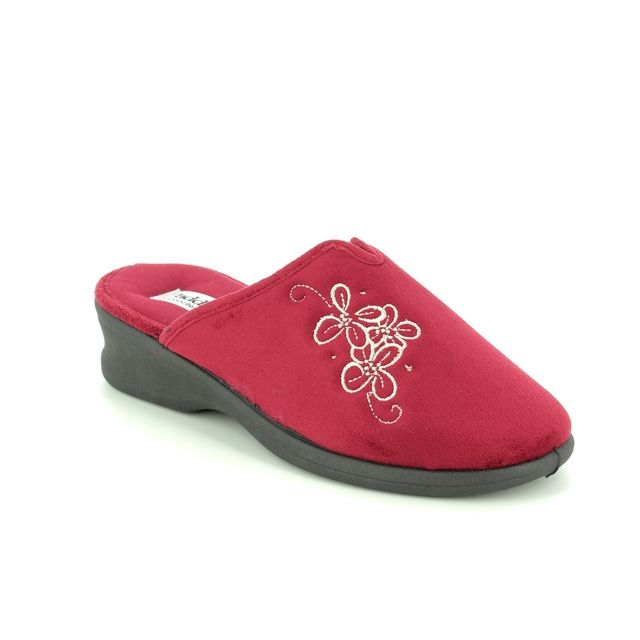 Padders Slipper Mules - Red - 4003/42 SABLE 2E FIT