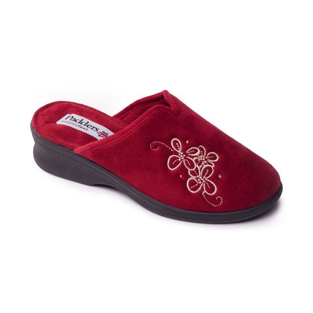 Padders Sable Ee Fit 4003-42 Red slipper mules