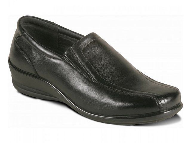 Padders Sam 205-01 Black matt leather comfort shoes