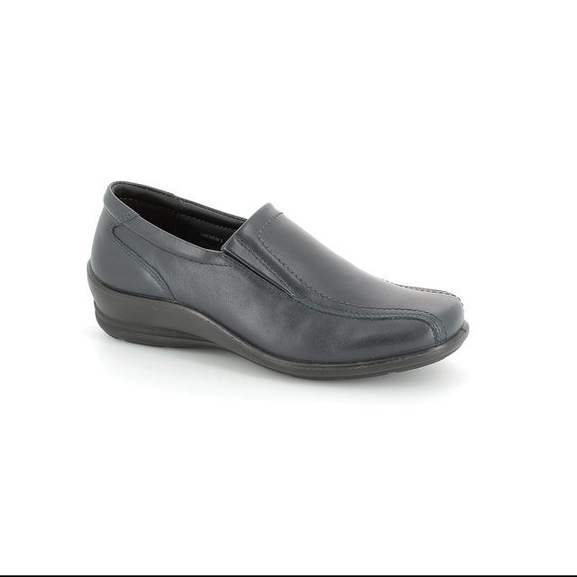 Padders Sam 205-07 Navy leather comfort shoes