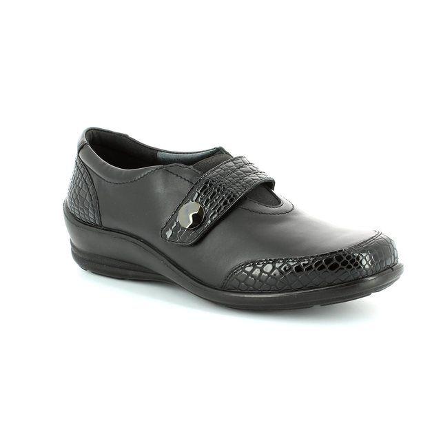 Padders Sarah 215-43 Black croc comfort shoes