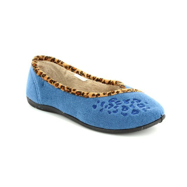 Padders Slippers - Blue - 0476/29 SAVANNAH E FIT