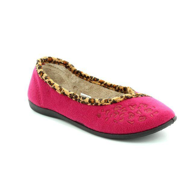 Padders Savannah E Fit 476-69 Raspberry pink slippers