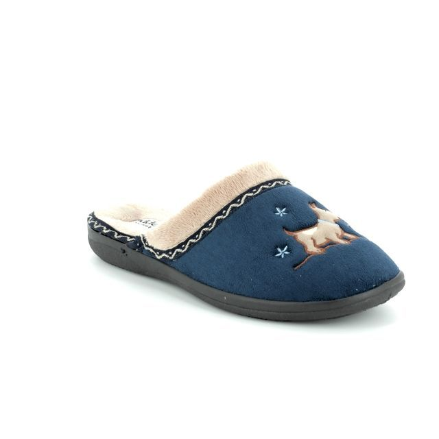Padders Slippers - Navy - 479/24 SCOTTY 2E FIT