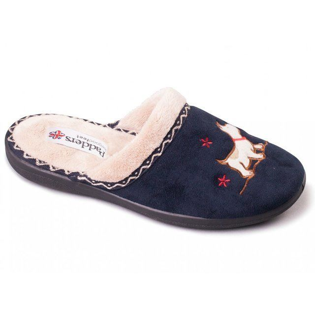 Padders Scotty 2E Fit 479-24 Navy slippers