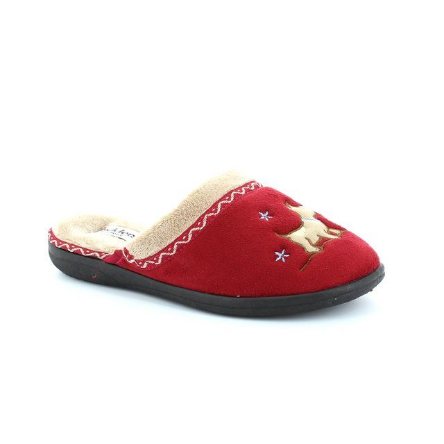 Padders Slippers - Red - 479/42 SCOTTY 2E FIT