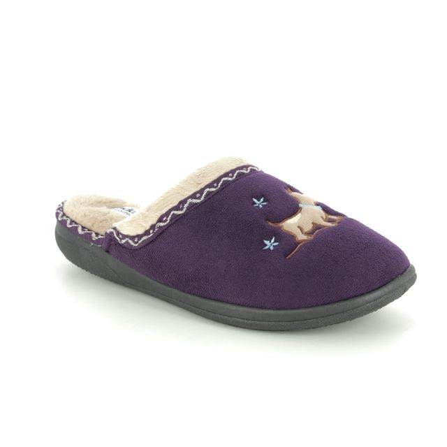 Padders Slippers - Purple - 0479-95 SCOTTY EE FIT