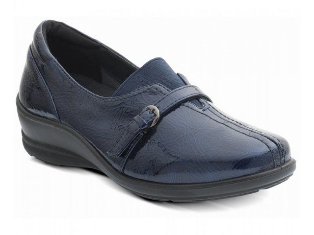 Padders Shelley 210-23 Navy patent comfort shoes