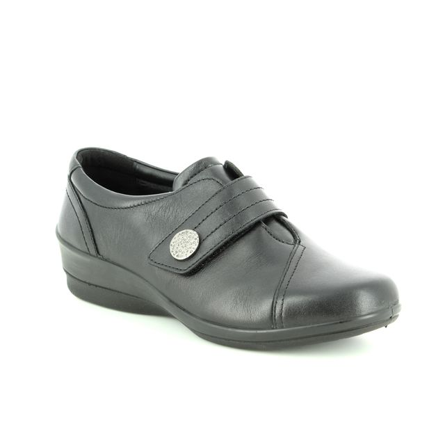 Padders Comfort Slip On Shoes - Black leather - 0252/10 SIMONE 3 E-EE