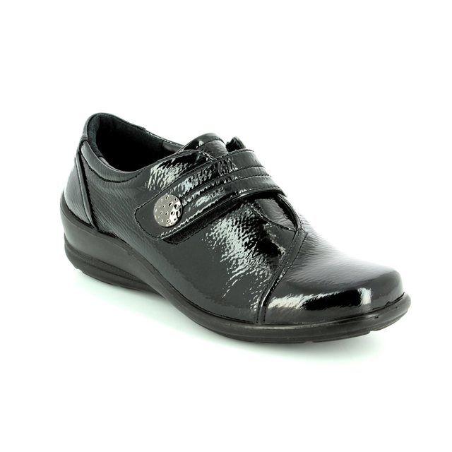 Padders Comfort Shoes - Black patent - 0200/60 SIMONE E-2E FIT
