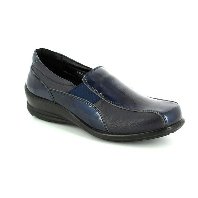 Padders Comfort Shoes - Navy patent - 0223/96 SKYE E-2E FIT