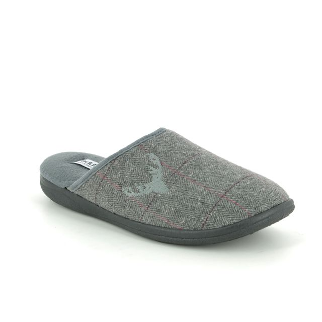 Padders Slippers - Grey - 0490-97 STAG   G FIT