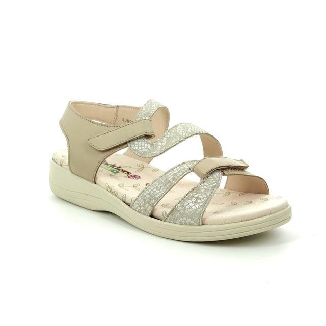 Padders Comfortable Sandals - Grey - 7003-97 SUNSEEK EE FIT