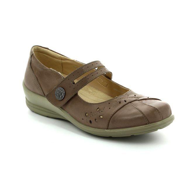 Padders Comfort Slip On Shoes - Taupe - 0290/21 SUNSHINE E-2E FIT