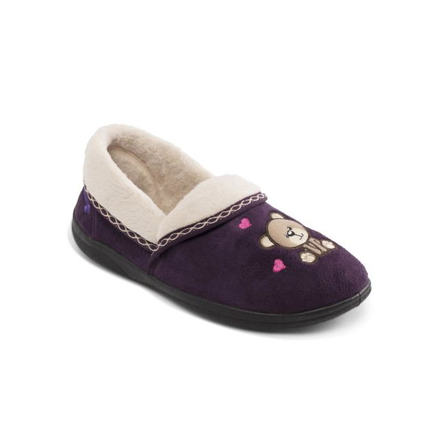Padders Slippers - Purple multi - 403-95 TEDDY
