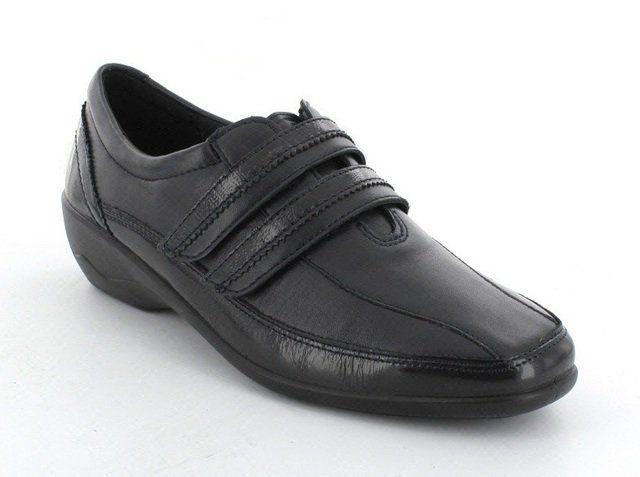 Padders Velvet 612-96 Navy patent comfort shoes