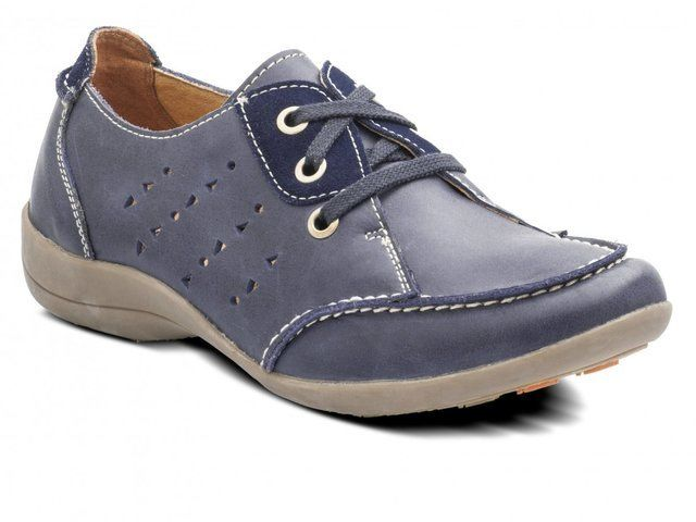 Padders Wheat 015-29 Navy lacing shoes