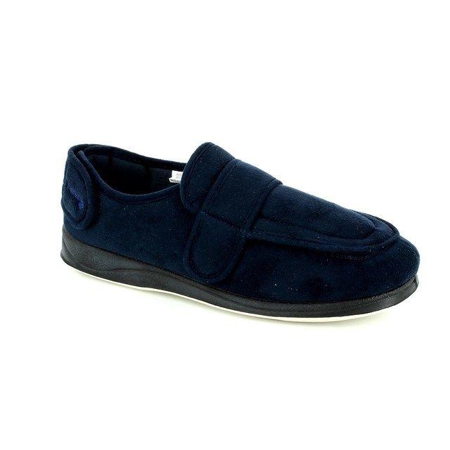 Padders Wrap Enfold 429-24 Navy slippers