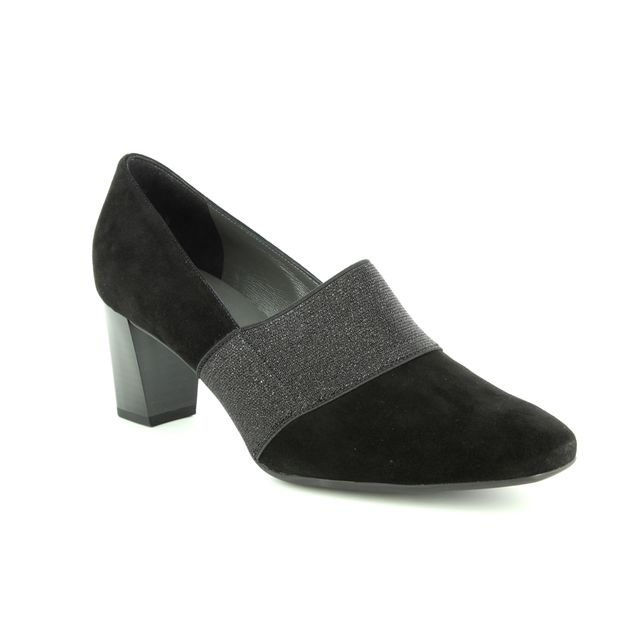 Peter Kaiser Heeled Shoes - Black suede - 01215/911 DORNA