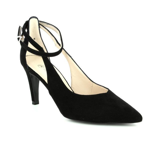 Peter Kaiser High-heeled Shoes - Black suede - 76175/240 ELINE