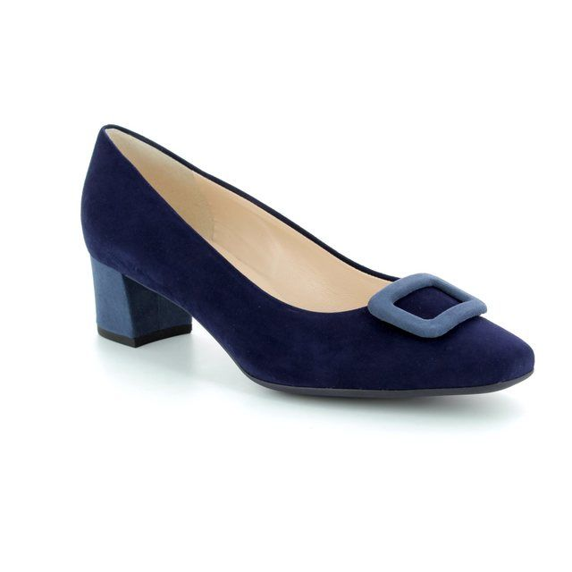 Peter Kaiser Heeled Shoes - Navy multi suede - 541143/892 GAMIZA